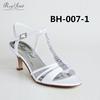 new low heel crystal girls fashion wedding sandal shoes