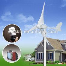 Low price 400w 24v Three-phase AC Permanent Magnet Wind Power Generators Wind Turbine Rotor Design