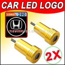 vendor car Ghost Shadow Light LED for Civic motor Laser Welcome Door Light Badge Logo 3D 12V 5w golden