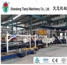 casas prefabricadas de panel de pared de hormigón línea de producción / máquina