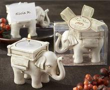 Ivory Elephant Resin Candlestick