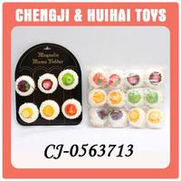 Lifelike plastic mini fruit cake toys fake food model