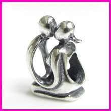 wholesale 8cm big hole slider sterling silver beads chain charms for bracelet
