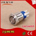 Flm19n-f11z-e 19 mm led, 24 v vert nickel plaqué laiton bouton - poussoir électrique symboles