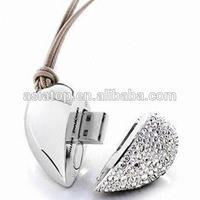 2014 top sale jewellery heart shape usb flash drive 4gb