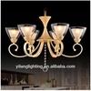 Guzhen factory e27 modern wood glass chandelier lighting fixture for home or lobby
