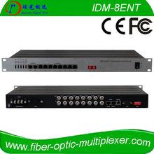 8 Voice (FXS/FXO) POTS fiber multiplexer, Ethernet & E1, serial ports as options