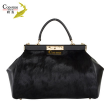 Wholesale and retail 2014 new fashion leather brand guangzhou market lady leather handbag