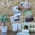Metal foto displayer tree- resina ofício do marfim