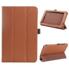 3-Folding Wood Texture Flip Stand Leather Case for Acer Iconia B1-720