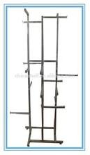 Hot sale new design zinc plated free standing display rack