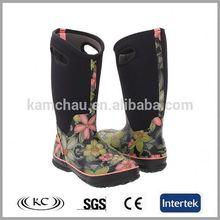 Popular best selling rosa na altura do joelho neoprene botas de pesca