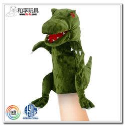 Green dinosaur hand puppet walking dinosaur puppet