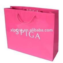 Top-grade pink paper gift bag/paper shopping bag