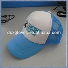 Blue Mesh White Front Trucker Caps Mesh Cap with Logo