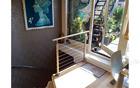 Modern design chrome railing for balcony/measuring for stair railing