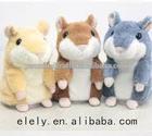 newest Christmas custom plush toy talking hamster for kids