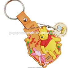 teddy bear high quality souvenir pvc keychain for gift