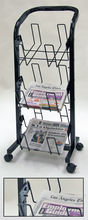 Wholesale cheap 3 tier mobile newspaper stand