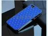 Deluxe Bling Crystal Diamond Hybrid PU Leather + Aluminum Hard Phone Case Skin Cover for iphone 5 5S