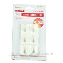6 self adhesive curtain wire hooks - Shower Bath towel hook DIY storage wall hook
