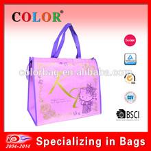 2014 best hello kitty advertisement laminated shopping bags , zipper bags