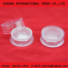 small fair clear loose powder jar for cosmetic packaging