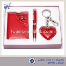 Wedding Gift Promotional Key Ring Name Card Metal Pen Set