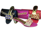 2014 new arrives hight quanlity wholesale italian matching shoes and bag set for party/wedding