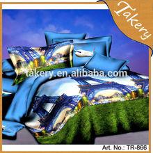 customer popular like most cheapest polyester City 3D Bedding set