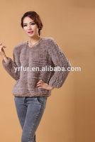 YR-362B genuine knitted rabbit fur jacket/garment shop interior design