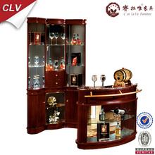 Chinese vintage furniture, corner wooden living room wine shelf