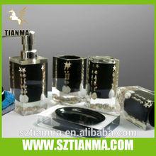 Transparent acrylic star square bathroom accessories