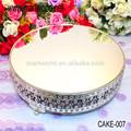 De alta calidad de plata de la decoración de pie para pastel de la tienda, para el hogar, eventos de bodas& partido( torta- 006)
