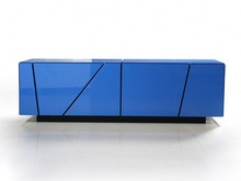 Divany Furniture modern living room cabinet stainless steel table