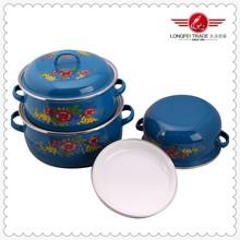 Porcelain Camping Pots / Baked Enamel Cookware