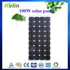 Monocrystalline 100W sunpower thin solar panel