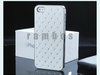 Chrome Bling Rhinestone Diamond PU Leather Hard Back Case Cover for iphone 5 5S