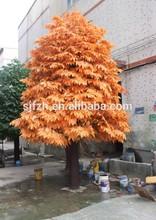 2014 SJ WJF013 Indoor 20ft artificial tree for amusement park decoration in autumn maple tree leaf fake big park landscape tree