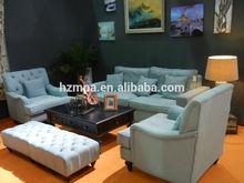 Popular hotel Upholstered Velvet single seat Sofa Design with Birch Legs