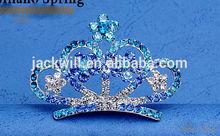 Bridal Colorful Crystal Hair Combs Crystal Rhinestone Crown Wedding Bridal Tiaras