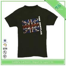 Men Cheap Blank Cotton Knitting Rib Cuff T-shirt
