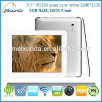 9.7 inch Retina IPS Quad Core RK3188 mid android retina 2048 1536 tablet pc