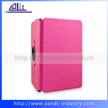 Custom Pink Color Pu Leather Wallet Pattern Cover For iPad mini Retail