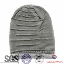Unisex Winter Plicate Baggy Beanie Knit Crochet Ski Hats oversized slouch Cap