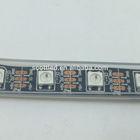 Black PCB 4M WS2812 digital LED Strip light,60leds/m with 60pcs WS2811 built-in,4m/reel,waterproof in tube,DC5V input