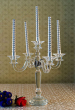 Complete specifications of crystal candle holder with hanging crystals