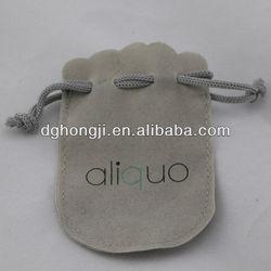 Custom Gold Stamping Jewelry Pen Drawstring Velvet Pouch