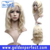 Russian virgin human hair thin skin top front lace wig for white women
