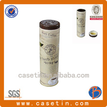 Good quality metal round old coffee cans with lids